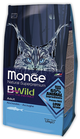 Monge BWild Adult Cat Anchovies (Монж БВайлд Эдалт Кэт Анчовис)